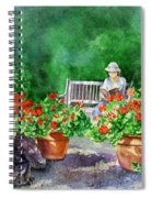 Quiet Moment Reading In The Garden Spiral Notebook