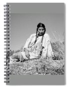 Quiet Time In Black And White Spiral Notebook