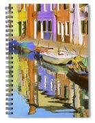 Quiet Waterway Reflections Spiral Notebook