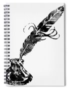 Quill And Ink-black Spiral Notebook