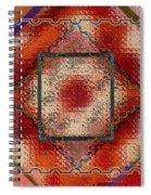 Quilt Block Transformed Spiral Notebook