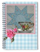 Quilted Star Card Spiral Notebook