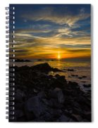 Quoddy Head State Park Sunrise Panorama Spiral Notebook