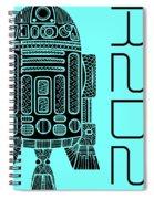 R2d2 - Star Wars Art - Blue Spiral Notebook
