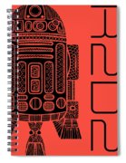 R2d2 - Star Wars Art - Red Spiral Notebook
