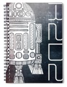 R2d2 - Star Wars Art - Space Spiral Notebook