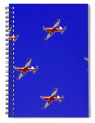 Raaf Roullettes Flying Across North Head Sydney Spiral Notebook