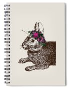 Rabbit And Roses Spiral Notebook
