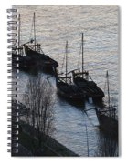 Rabelo Boats On Douro River In Portugal Spiral Notebook
