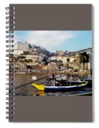 Rabelo Boats On River Douro In Porto 02 Spiral Notebook