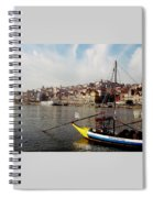 Rabelo Boats On River Douro In Porto 03 Spiral Notebook