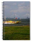 Race Boat In Charleston Spiral Notebook