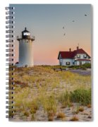 Race Point Light Cape Cod Square Spiral Notebook