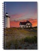 Race Point Light Sunset 2015 Spiral Notebook