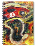 Racetrack Melting Spiral Notebook