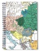 Racial Map Of Europe Circa 1923 Spiral Notebook