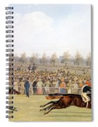 Racing Scene Spiral Notebook