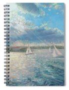 Racing Yachts Past Snapper Island Spiral Notebook