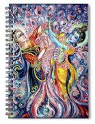 Radha Krishna - Cosmic Dance Spiral Notebook