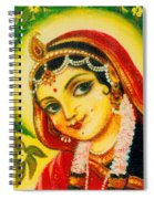 Radha - The Indian Love Goddess Spiral Notebook