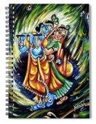 Radhe Krishna Spiral Notebook