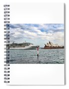 Radiance Of The Seas Passing Opera House Spiral Notebook