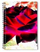 Radiant Red Rose Spiral Notebook