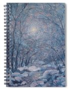 Radiant Snow Scene Spiral Notebook