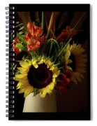 Radiant Sunflowers And Peruvian Lilies Spiral Notebook