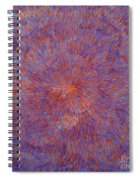 Radiation With Blue And Red  Spiral Notebook