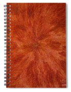 Radiation With Brown Yellow And Voilet Spiral Notebook