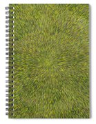 Radiation With Green With Yellow Spiral Notebook