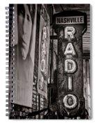 Radio Nashville - Monochrome Spiral Notebook