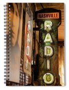 Radio Nashville Sign Spiral Notebook