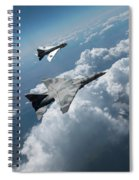 Raf Tsr.2 Advanced Bomber With Lightning Interceptor Spiral Notebook