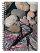 Rag Rugs With Stones And The Dock 3 Spiral Notebook
