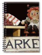 Raggedy Ann Selling Raspberries Spiral Notebook