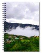 Raging Clouds On The Village Spiral Notebook