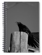 Raging Crow Spiral Notebook