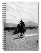 Raguero Cutting Out A Cow From The Herd Spiral Notebook