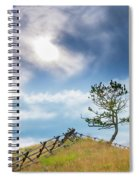 Rail Fence And A Tree Spiral Notebook