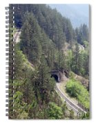 Railroad And Tunnels On Mountain Spiral Notebook