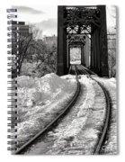 Railroad Bridge In Winter Spiral Notebook