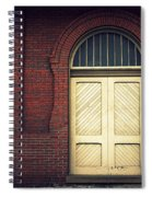 Railroad Museum Door Spiral Notebook