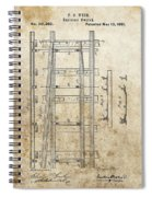 Railroad Switch Patent Spiral Notebook