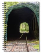 The Railway Passing Through The Tunnel To Meet The Light Spiral Notebook