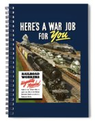 Railroad Workers Urgently Needed Spiral Notebook