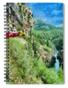 Rails Above The River Spiral Notebook