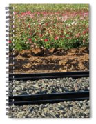 Rails And Roses Spiral Notebook