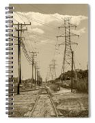 Rails And Wires Spiral Notebook